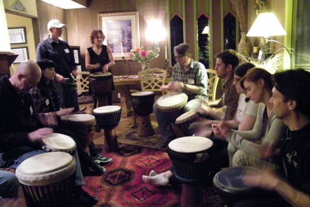 Retreat drumming